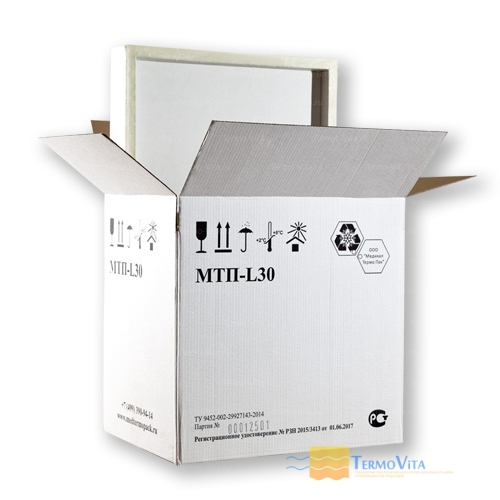 Термоконтейнер МТП-L30 в гофрокоробе, внутренняя отделка - влагостойкий картон