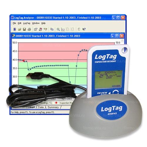 Термоиндикатор регистрирующий ЛогТэг ТРЕД30-7Р  16P (LogTag TRED30-7R  16R), с поверкой и звуковым сигналом