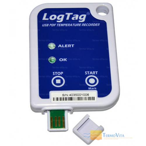Термоиндикатор регистрирующий ЛогТэг ЮТРИКС-16 (LogTag USRIC-8) однократного запуска, с поверкой